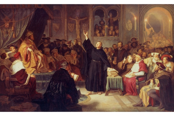 Hermann Plüddemann, Luther auf dem Reichstag in Worms, 1864